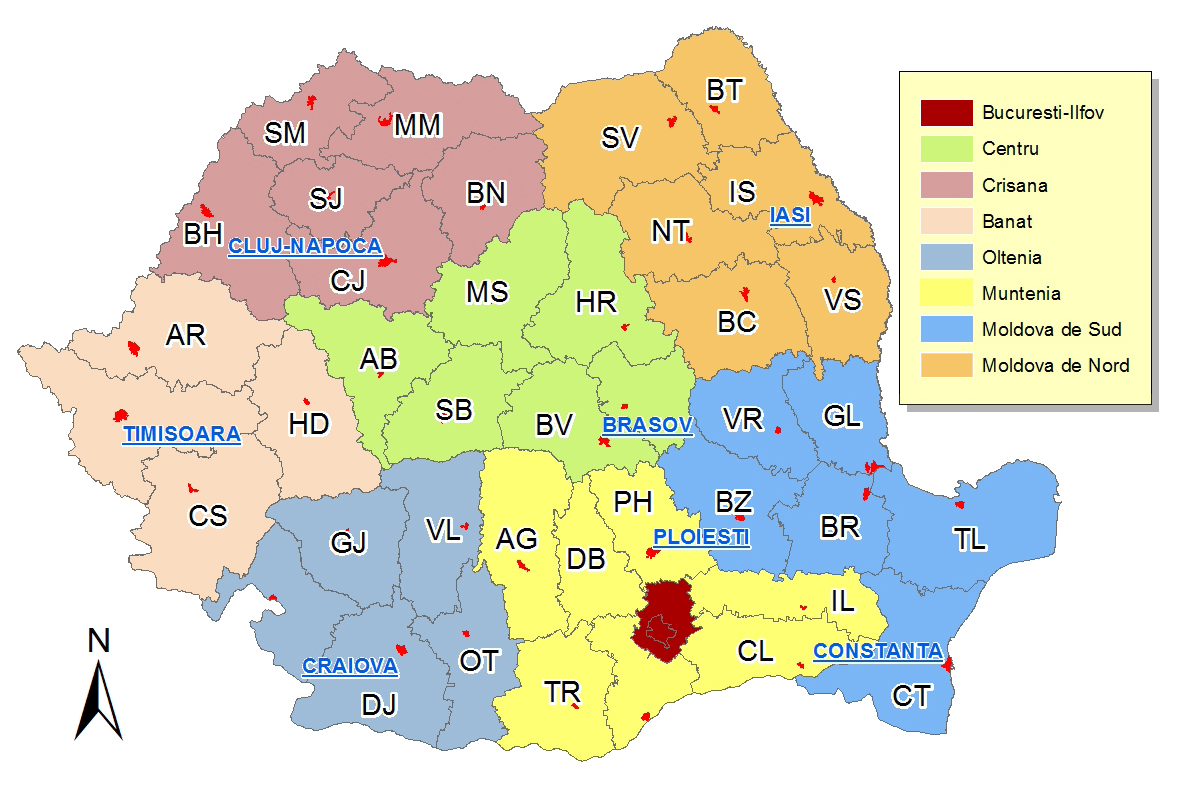 harta regiuniromania